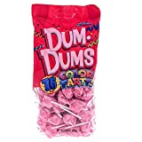 Light Pink Dum Dums Color Party - Bubble Gum Flavored - 75 Count Bag - 12.8 ounces - Includes Free How To Build a Candy Buffet Guide