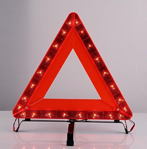 LEDWARNING Triangle de signalisation lumineux 24 leds rechargeable