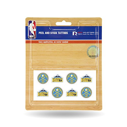 Rico Industries NBA Denver Nuggets Face Tattoos, 8-Piece ()