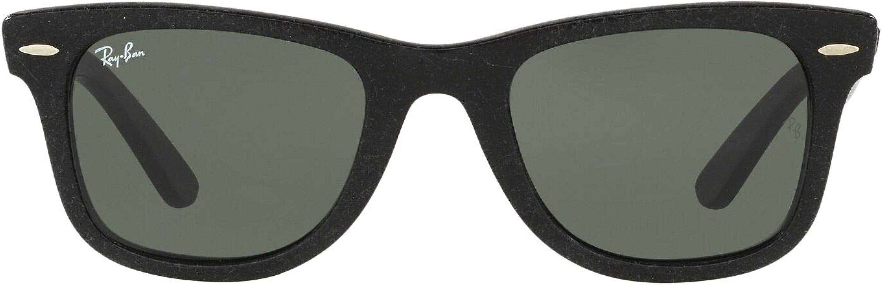 Ray-Ban Wayfarer, Gafas de Sol Unisex, Negro (Distressed Black / Green Classic G-15, 50 mm: Amazon.es: Deportes y aire libre