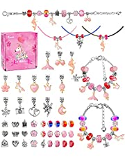 Little Titan DIY Jewellery Making Kit for Girls, Charm Bracelet Making Set, Arts Craft Sets for Kids -Best Gift