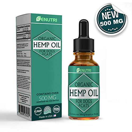 GENUTRI Natural Hemp Oil for Dogs and Cats -...