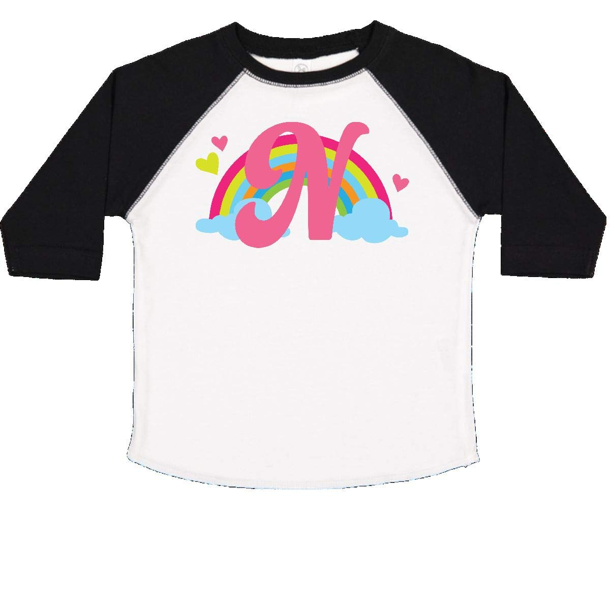 inktastic Monogram Letter N Rainbow Toddler T-Shirt