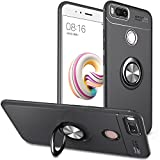 BtDuck Compatible with Xiaomi Mi A1 5X Case Silicone Finger Grip Phone Case Ring Kickstand Soft TPU Cover Phone Protector Magnetic Car Mount Case Shockproof Slim-Fit Built-in Kickstand Function