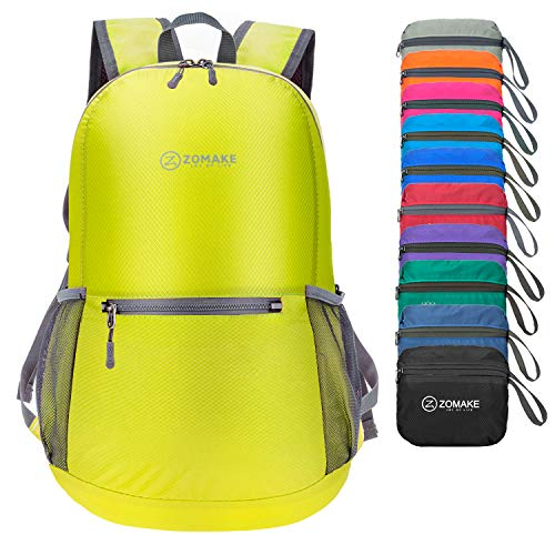 (ZOMAKE Ultra Lightweight Packable Backpack Water Resistant Hiking Daypack,Small Backpack Handy Foldable Camping Outdoor Backpack Little Bag)