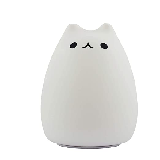 Golden Lampstands Qualified Premium 7 Colors Cat Led Usb Children Animal Night Light Silicone Soft Cartoon Baby Nursery Lamp Breathing Led Night Light