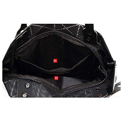 Bag Handbag Bb Geometric Shoulder backpacks Xxpp J Lingge Bag Folding Deformation Portable qw8zFq1