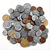Learning Resources - Play Money Coin set - 30 pennies, 20 each of nickles, dimes, and quarters, 4 half-dallars, and 2 sacageweas - 2 Pack