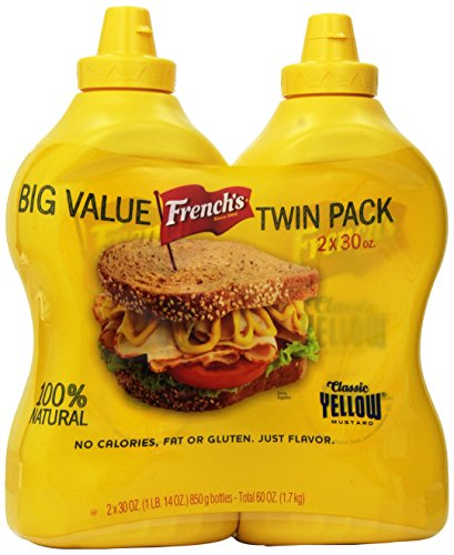 French's Classic 100% Natural Yellow Mustard Pack of 2 30 oz Bottles