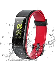 Willful Fitness Tracker,Color Screen Activity Tracker Heart Rate Monitor IP68 Waterproof Pedometer Step Counter Watch Sleep Monitor Calorie Counter Smart Watch for Android iPhone iOS Phones