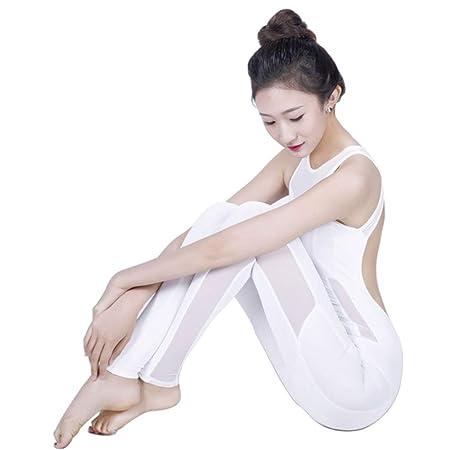 QGANG Mujer Yoga Monos Jumpsuit Sexy Malla Puntadas Y ...
