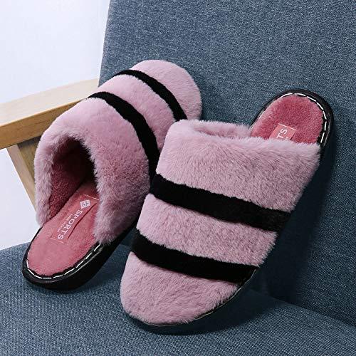 Maison Pantoufles Doux Intérieur Peluche Violet Chaussons et Hishoes Chaudes Homme Femme Chaussons pour d'hiver Bureau qq8wP4v