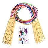 BetyBedy Circular Knitting Needles Set 18-Pairs Bamboo 31.5