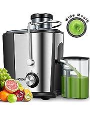 Centrifugeuse Fruits et Légumes, Aicook 65MM Large Bouche 600W Extracteur de Jus, sans BPA, en Acier Inoxydable de Qualité Alimentaire, la Centrifugeuse Deux Vitesses Avec la Ffonction Anti-Goutte