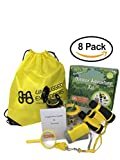 Unplugged Explorers 8 Piece Kid's Outdoor Adventure Kit - Backpack, Kid's Binoculars, Flashlight, Compass, Exploration Guide, Bug Collector, Whistle, Magnifying Glass - Educational STEM Gift for Kids
