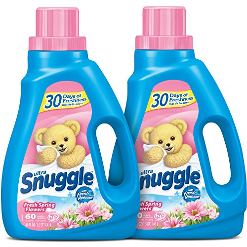 Love Fresh Flowers - Snuggle Liquid Fabric Softener with Fresh Release, Fresh Spring Flowers, 48 Fluid Ounces (Pack of 2)