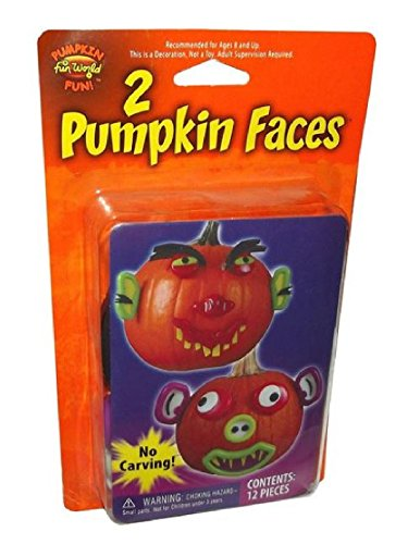 [Mr. Pumpkin Faces Kit - 2 Styles by Totally Ghoul] (Mr Potato Head Costumes For Adults)