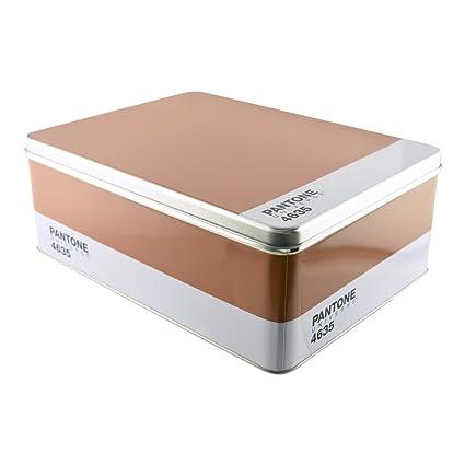 Pantone Metal Storage Box Brown 4635  sc 1 st  Amazon.com & Amazon.com: Pantone Metal Storage Box Brown 4635: Home u0026 Kitchen