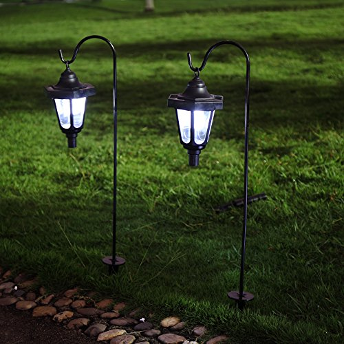 Solar Garden Light Lantern: Ohuhu Solar Garden Light, Solar Powered LED Lantern Light