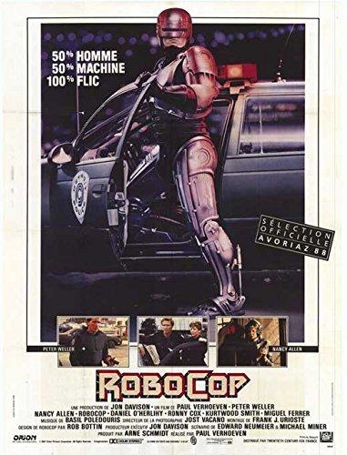 Robocop 11X17 Movie Poster Peter Weller Nancy Allen