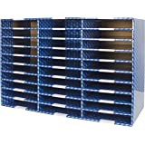 Storex 80303U01C Heavy Duty Corrugated Mailroom Sorter, 30 Compartments, Blue