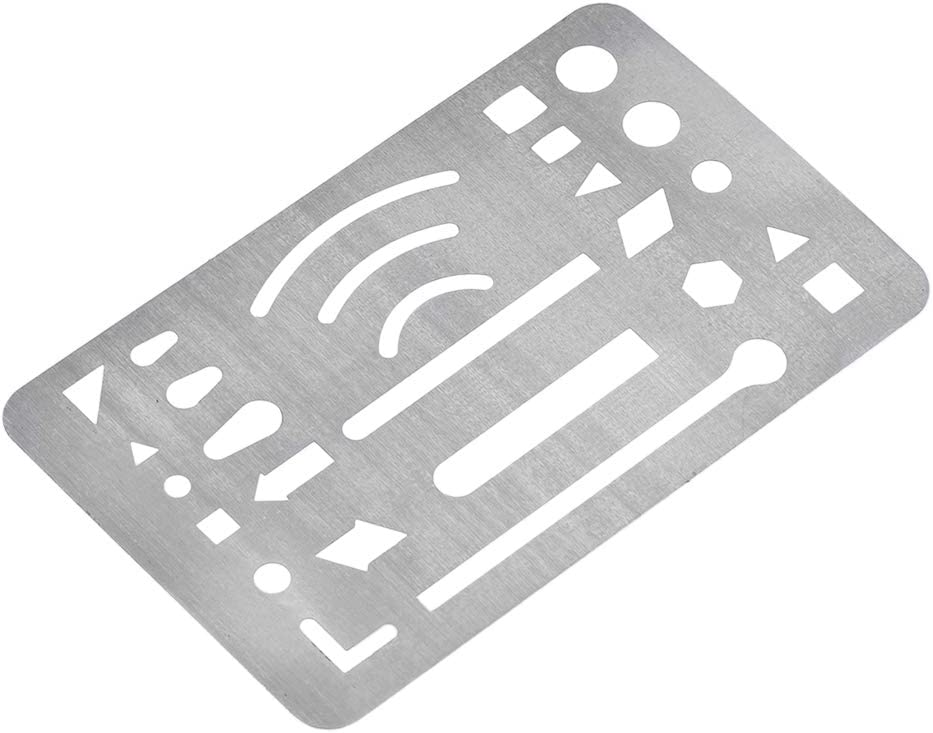 uxcell Erasing Shield 27 Patterns Stainless Steel Drawing Template