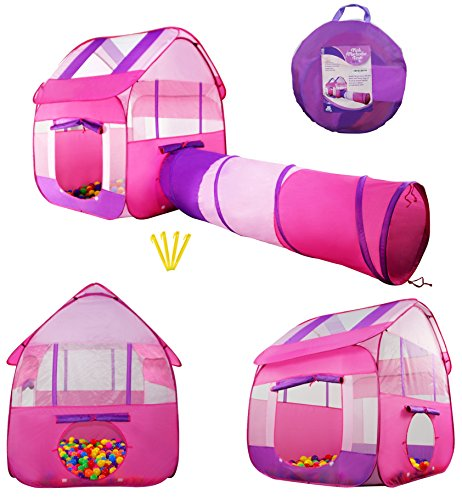 kiddey-pink-children-playhouse-tent-with-tunnel-pops-up-no-assembly-required-large-kids-indoor-outdo