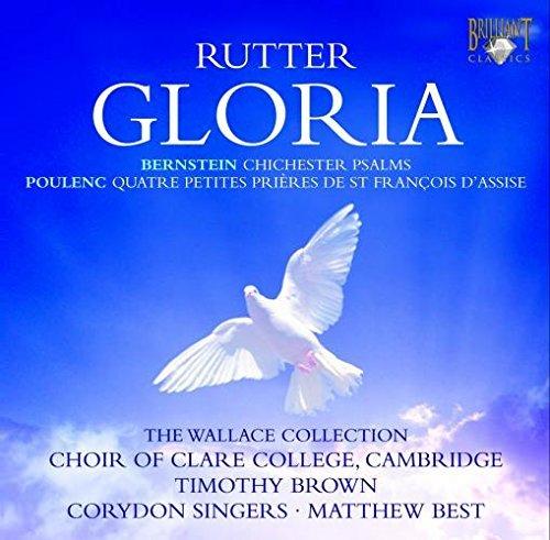John Rutter - Gloria / Bernstein - Chichester Psalms by Choir Of Clare College (2009-04-16) (Book Psalms Music Bernstein Chichester)