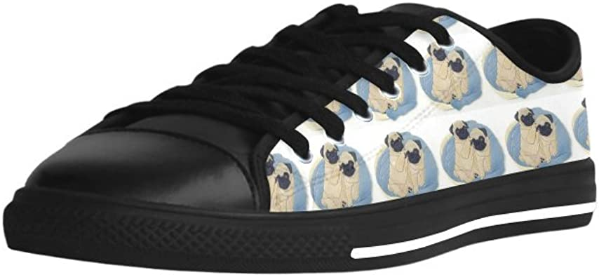 HUANGDAISY Pugs Couple Action?Leather Mens Shoes /& Rubber Out-Sole