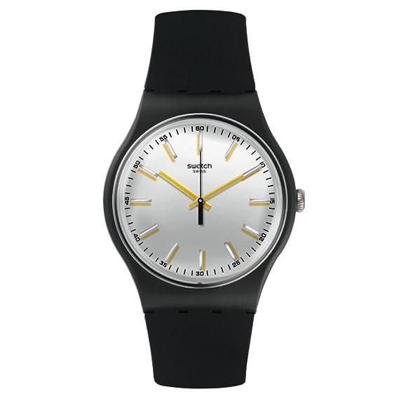 Swatch Gent hombre Nuevo suob132 negro silicona reloj cuarzo suizo: Swatch: Amazon.es: Relojes