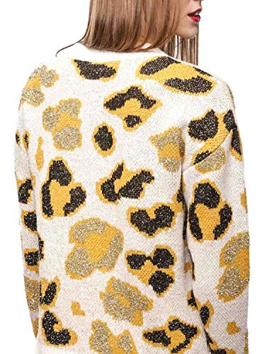 Gold Donna Pullover Oro Naf Print Animal Z7IOOtnq