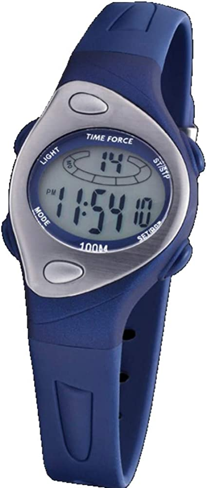 Time Force Tf3184b03 Reloj Digital para Mujer Caja De Resina Esfera Color Gris