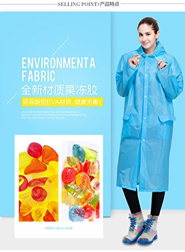 Portátil de la mujer moda gabardina larga con manga larga chaqueta de viaje reutilizable lluvia Mac amarillo