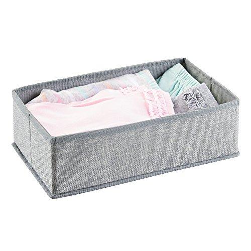 mDesign Nursery Organizer Clothes Blankets