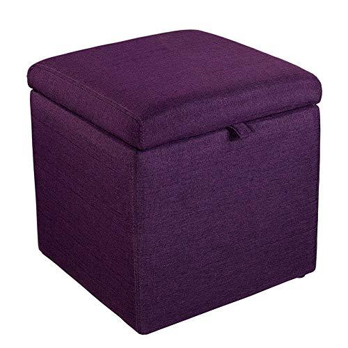 Price comparison product image StoolStool Taburete de almacenamiento de Tela,  banco de Zapatos para adultos,  superficie de taburete de algodón,  espacio de almacenamiento Grande,  43 43 45 cm