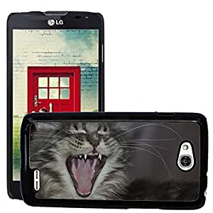 GoGoMobile Slim Protector Hard Shell Cover Case // M00118238 Maine Coon Cat Teeth // LG Optimus L90 D415