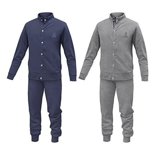 Pigiama-Tuta-Homewear-Uomo-LANCETTI-Cotone-Felpato-Varie-Taglie-ArtLF56