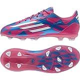 F50 adizero TRX FG Kids Football Boots Neon Pink/Running White/Solar Blue