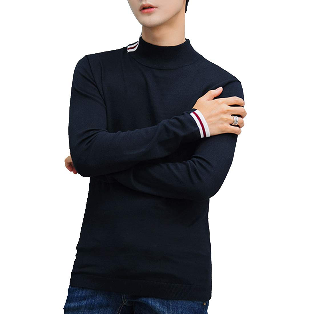9f1b1b920 ... Fepelasi Suéter de Color sólido sólido sólido para Hombre