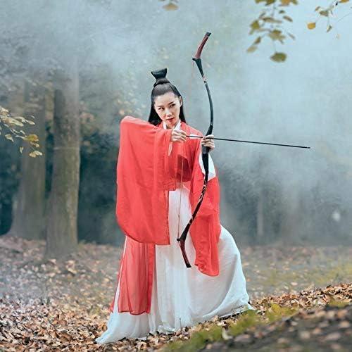 OBERT アーチェリー用弓 ビンテージ リカーブボウ スーツ ロングボウ 伝統的な弓 弓道練習 狩猟弓 と矢筒と3つの炭素の矢  30ポンド