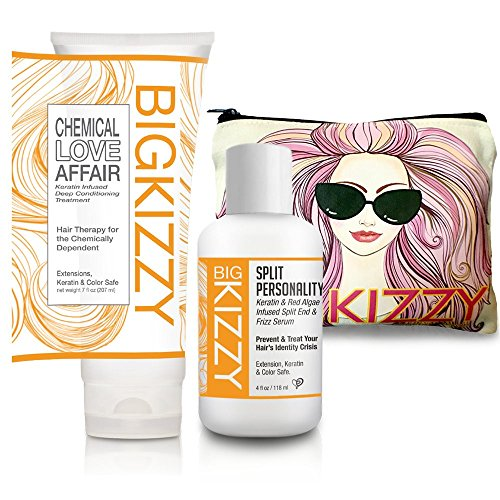 Deep Quench Conditioning Treatment (Keratin Hair Mask & Deep Conditioner Plus Split End & Frizz Serum for Repairs, Protection & Prevention by Big Kizzy Hair)