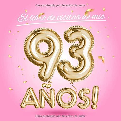 El libro de visitas de mis 93 años: Decoración rosa para el ...