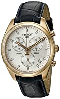 Tissot Men's T1014173603100 Stainless Steel Watch With Black Faux-Leather Band