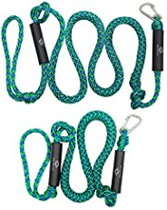 Obcursco PWC Bungee Dock Line Stretchable for Kayak, Boat, Marine, Sets of Two(4ft & 6ft) with Foam Float