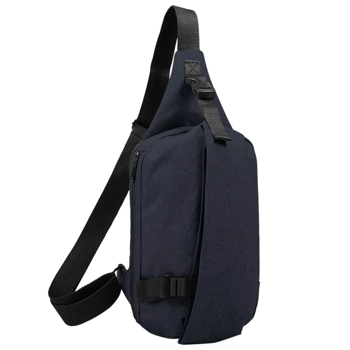 胸バッグ ボディバッグ メンズ 斜め掛け 撥水 ショルダーバッグ(dark blue)