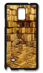 Samsung Galaxy Note 4 Case, 3d Yellow Texture Rugged Case Cover Protector for Samsung Galaxy Note 4 N9100 Polycarbonate Plastics Hard Case Black