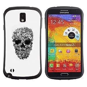 """Pulsar iFace Series Tpu silicona Carcasa Funda Case para Samsung Note 3 , Arte Rupestre rollo Heavy Metal cráneo del motorista"""""""