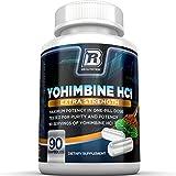 BRI Nutrition Yohimbine HCI - 90 Count 2.5mg Yohimbie Capsules