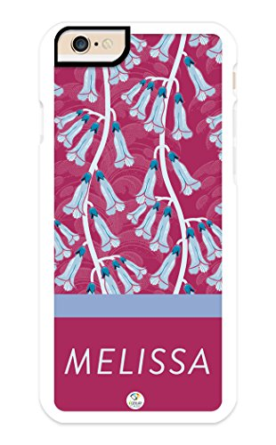 (Custom Phone Cases for iPhone 6S, iPhone 6, iZERCASE [Floral Collection, Lilies] Make Your Own Phone Case, Apple iPhone 6, iPhone 6S, Monogram Personalized Case (White))