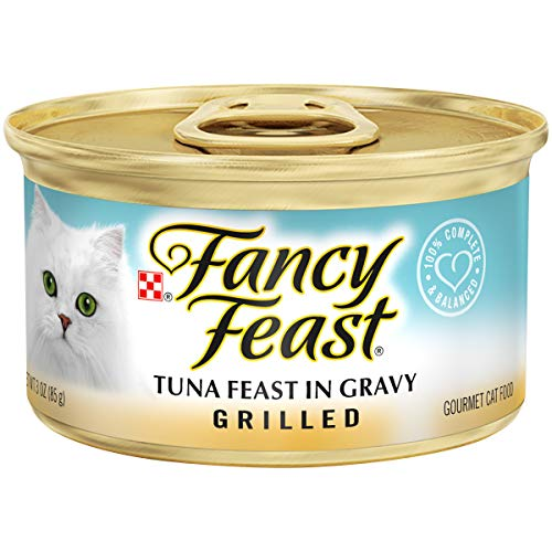 Purina Fancy Feast Gravy Wet Cat Food; Grilled Tuna Feast - 3 oz. Can (24 pack)